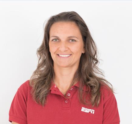 Juliana Cabral, comentarista dos canais ESPN