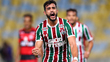 RIO DE JANEIRO, BRAZIL - AUGUST 05: Henrique Dourado of Fluminense celebrates a scored goal during a match between Fluminense and Atletico GO as part
