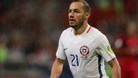 Marcelo Díaz em ação pela seleção do Chile na Copa das Confederações deste ano