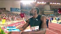 Bolt venceu prova em Monaco