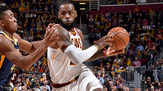 LeBron James Cavaliers Jazz NBA 16/12/17