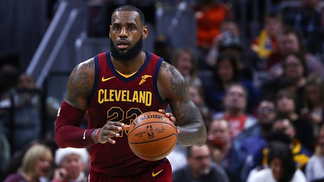 CLEVELAND, USA - DECEMBER 9: LeBron James (23) of the Cleveland Cavaliers in action during the NBA game between Cleveland Cavaliers and Philadelphia 7