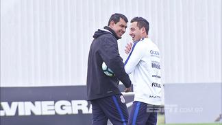 Carille durante treino do Corinthians