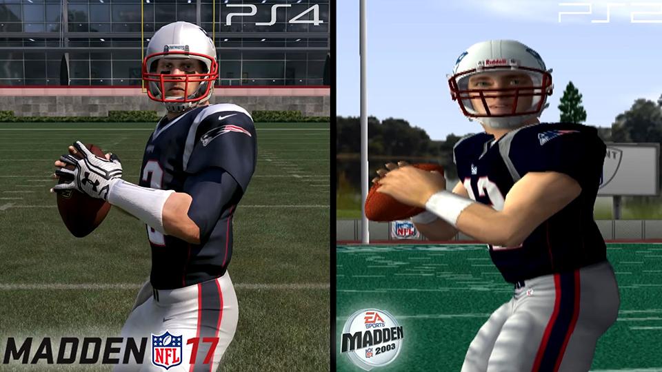 De titular do Patriots até a chegada da temporada de 2017, Brady tem o rating de '99' por quatro vezes.