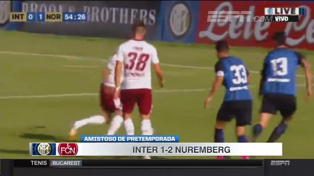 Amistoso internacional: Gols de Internazionale 1 x 2 Nuremberg
