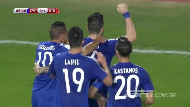 Chipre bate Gibraltar e vence a primeira no grupo H das Eliminatórias Europeias