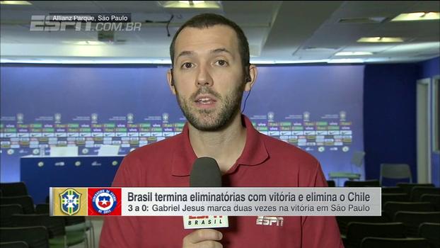 Gustavo Hofman: 'O Brasil teve o controle de todo o jogo, o Chile pouco ameaçou no segundo tempo'