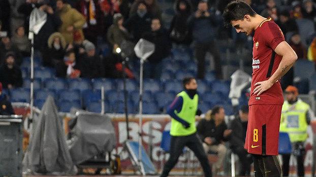 Italiano: Gol de Roma 1 x 0 Cagliari
