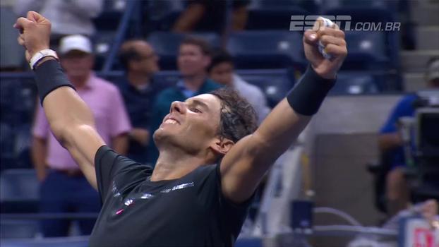 Veja os melhores momentos de Rafael Nadal 3 x 1 Juan Martín Del Potro
