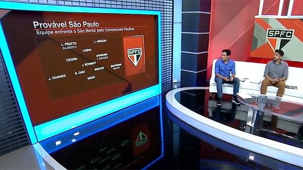 Comentaristas do BB analisam possível escalação do São Paulo e ausência de Denis