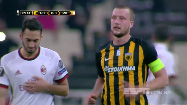 Confira os melhores momentos de AEK 0 x 0 Milan