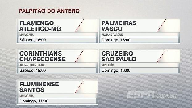 Veja o 'palpitão' do Antero Greco para a 1ª rodada do Brasileirão