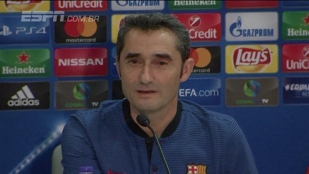 Encarando ex-clube pelo Barcelona, Ernesto Valverde revela nervosismo no retorno à Grécia