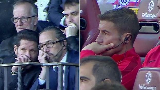 Suspenso, Simeone pode ter tentado se comunicar com o banco de reservas do Atlético de Madri; veja por que