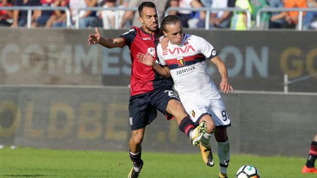 Cagliari cai para Genoa em casa e perde quarto jogo seguido no Italiano
