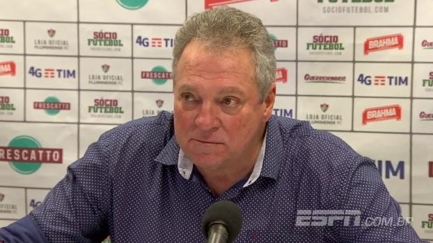 Abel Braga, após empate: 'Saio chateado. De repente, vou tomar um vinho estragado'