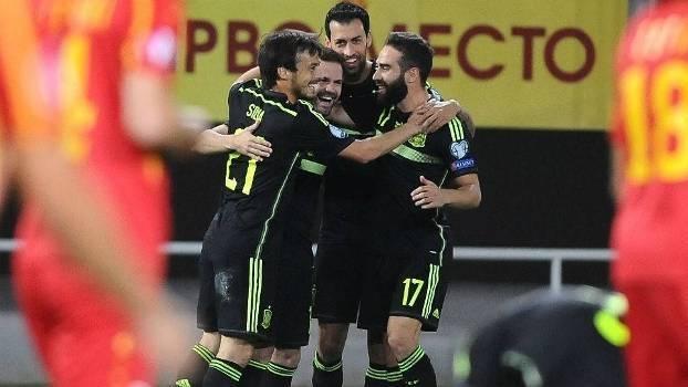 Resultado de imagem para Espanha x Macedonia