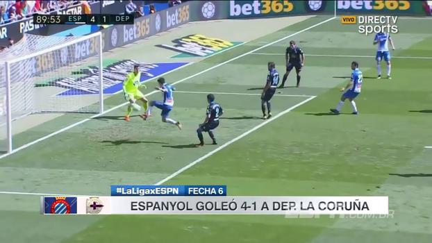 Com gol e assistência, Léo Baptistão brilha em vitória do Espanyol contra o La coruña