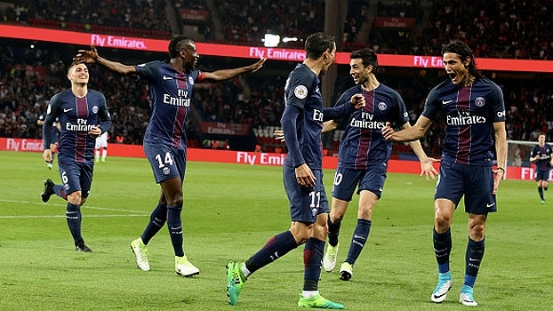 Francês: Gols de Paris Saint-Germain 4 x 0 Guingamp