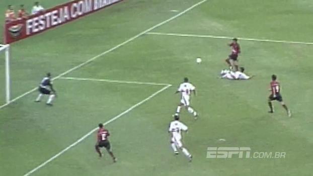 Em 2003, Tardelli fez, mas Edílson marcou dois e garantiu a virada do Fla sobre o São Paulo