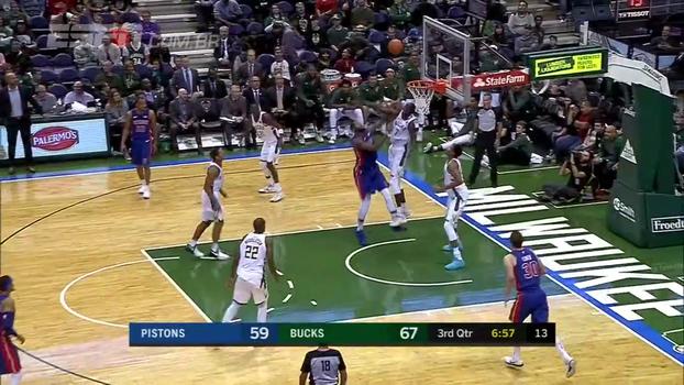 Em jogo movimentado, Bucks vencem Pistons por 107 a 103