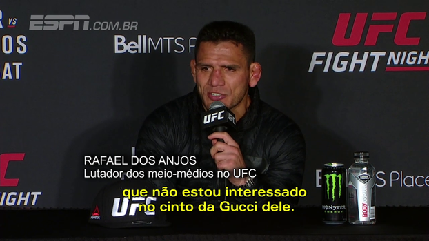 Rafael dos Anjos diz que merece chance de título no UFC e descarta oferta de campeão: 'Não quero o cinto da Gucci'