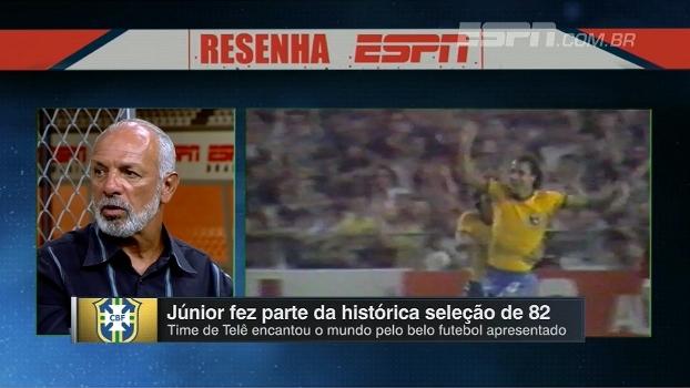Júnior relembra o fatídico jogo contra a Itália e diz: 'A seleção de 82 deixou um legado'