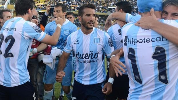 Argentino: Gol de Racing (campeão) 1 x 0 Godoy Cruz