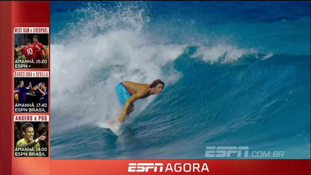 Muito surfe com o Aloha, futebol europeu e rodada dupla da NBA; veja a programação desta sexta!