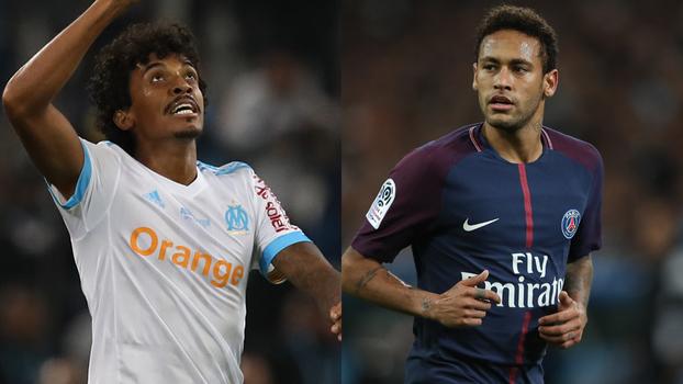 Neymar marca, mas é expulso, e Luiz Gustavo 'vence' duelo brasileiro em Marselha x PSG
