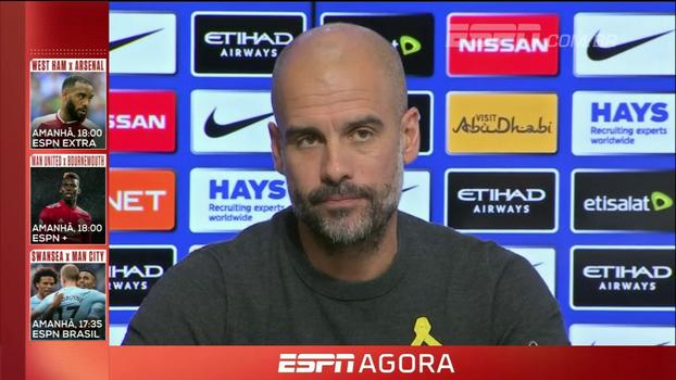 Guardiola evita explicações sobre confusão nos vestiários e reforça: 'Eu encorajo jogadores a celebrar vitórias'