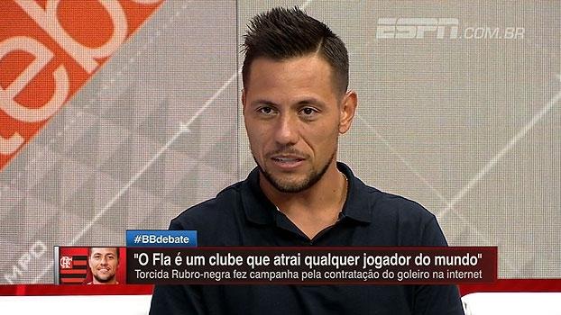 Diego Alves fala sobre 'invasão' de torcedores do Fla em suas redes sociais: 'Me assustou um pouco'
