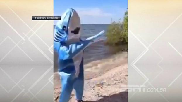 Com tubarão dançando ao som de Shakira, Londrina zoa Cruzeiro após classificação nos pênaltis