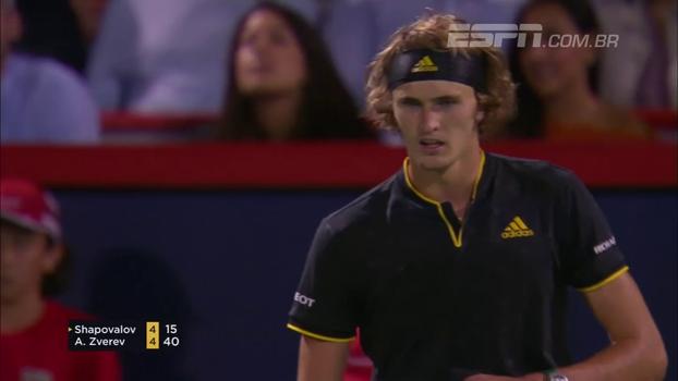 Zverev vence algoz de Nadal e enfrenta Federer na final do Masters 1000 de Montreal