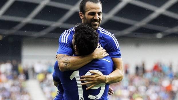 Astros do momento no Chelsea, Fàbregas e Diego Costa sonham com título da Champions