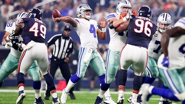 Quarterback calouro brilha, Cowboys têm 1º tempo impecável e vencem Bears no Texas