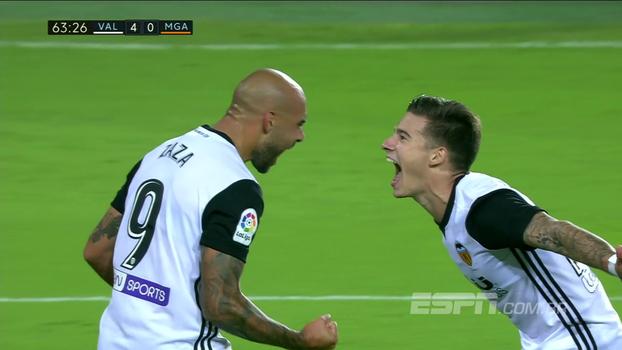 Zaza faz três, Valência envolve o Málaga e goleia com direto a assistência de calcanhar