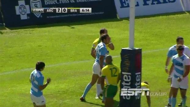 Sul-Americano de Rugby: Lances de Argentina 83 x 0 Brasil