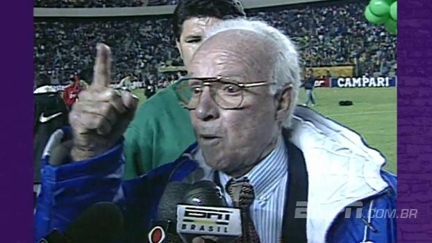 Há 20 anos, a seleção vencia a Copa América; Zagallo, técnico, deixava o recado para os jornalistas