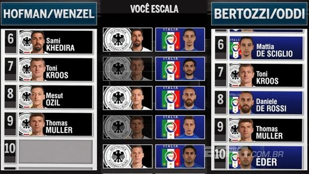 Desafio da Euro: Gian e Bertozzi enfrentam Wenzel e Hofman na escalação dos melhores de Itália e Alemanha