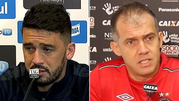 Edílson e Eduardo Baptista garantem Grêmio e Atlético Paranaense prontos para confronto