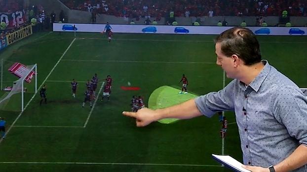 Sálvio aponta ação faltosa de Réver antes de gol de Guerrero: 'Tem a carga'