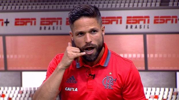 Diego cai na gargalhada com história de trote de 'torcedor' após eliminação: 'Era esse palhaço'