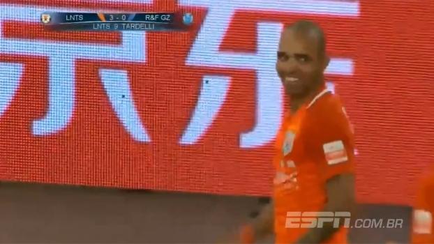 Tardelli marca, e Shandong Luneng passa fácil pelo Guangzhou R&F no Chinês