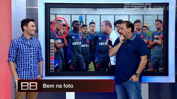 Bem na foto! Alê Oliveira analisa momento durante treino do Vasco