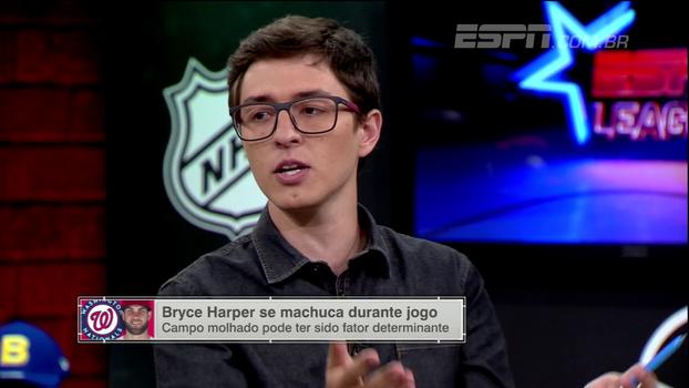 Renan do Couto, sobre lesão de Bryce Harper: 'MLB vai resolver isso. É uma questão básica de segurança'