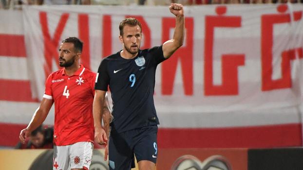 Assista aos lances da vitória da Inglaterra sobre Malta por 4 a 0!