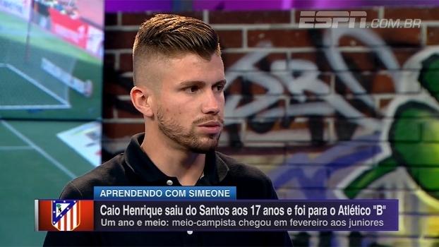 Caio Henrique explica ida ao Atlético de Madrid e diz que se espelha em Saúl: 'Ele sempre me ajuda'