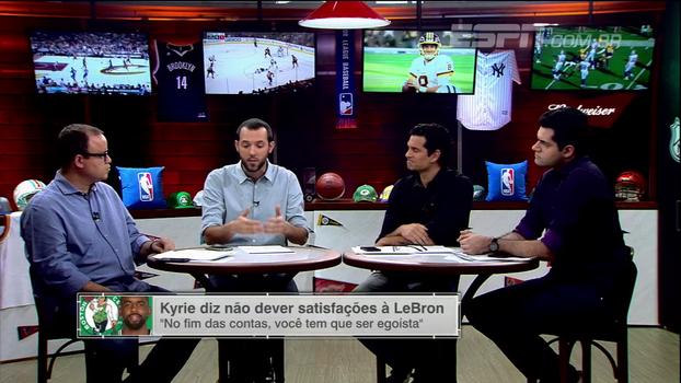 Após polêmica fala de Kyrie sobre ser egoísta, Hofman comenta: 'Com LeBron, há um teto. Em Boston, não'