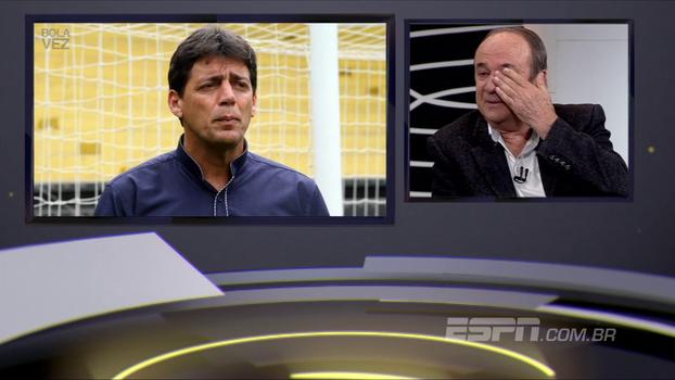 Campeões da Copa do Brasil pelo Criciúma em 91 elogiam e fazem Levir chorar no 'Bola da Vez'